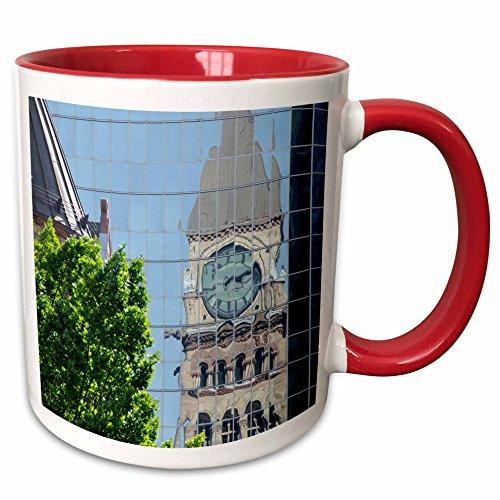 3dRose Danita Delimont - Clock Towers - Clock tower, Old City Hall, Ontario, Canada - CN08 CMI0046 - Cindy Miller Hopkins - 15oz Two-Tone Red Mug (mug_135349_10) (City Hall Canada)