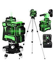JJone Multifunctional 3D 12 Lines Laser Level Tool Vertical Horizontal Lines with Self-leveling Function