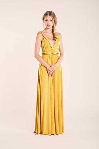 Prom dress, Mustard prom dress, yellow long dress, mustard bridesmaid dress, yellow