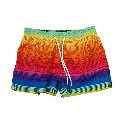 Sunward Sexy Women Casual Shorts Pants Shorts Rainbow Beach Trousers (XL)