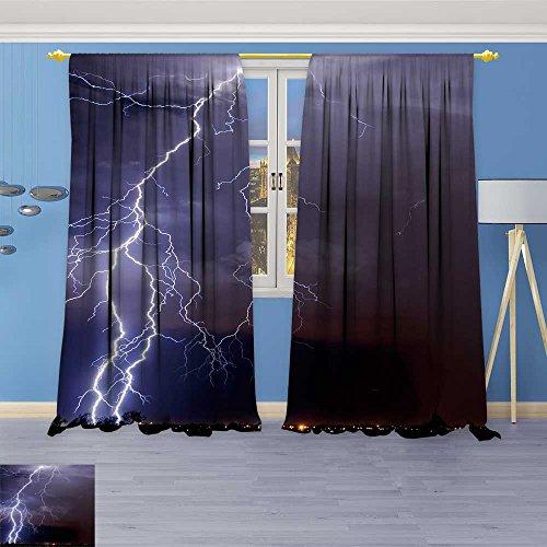 SOCOMIMI Flower Design Foil Printed Grommet Thermal Insulated Window Panels Tucson Lightn for Kidsroom, 108W x 96L -