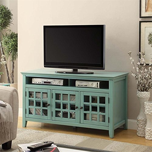 Pemberly Row TV Stand in Distressed Antique Turquoise