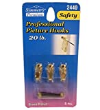 Professional Picture Hooks 3pcs Brass, Case of 24