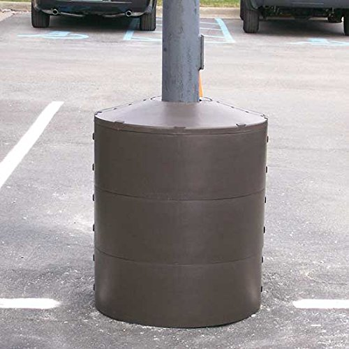 Light Pole Protector - BLPBP Series; Cement Base Diameter: 24''; Light Pole Diameter: Any; Overall Height: Any; Ring Height: 9-1/2'' by Beacon World Class Products