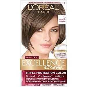 Amazon.com : L\'Oreal Paris Excellence Creme Hair Color, 5 Medium ...
