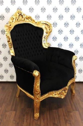 Casa Padrino Barock Sessel King Schwarz/Gold - Möbel Antik Stil ...