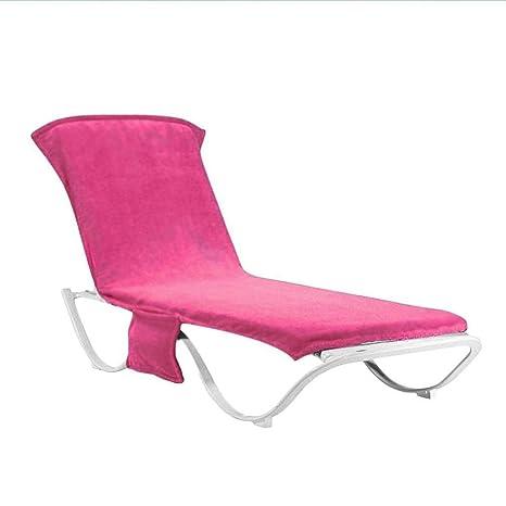 SDYDAY Tumbona de playa mate toallas fundas con bolsillos silla de piscina asiento de secado rápido