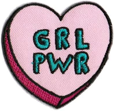 Girl Gang 70s hippie retro boho weed love applique iron-on embroidered patch new