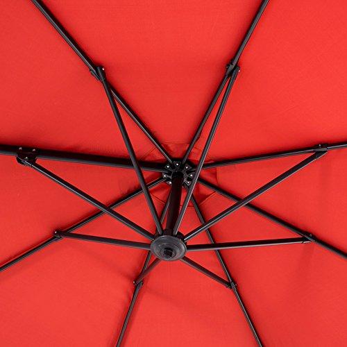 Sundale Outdoor 10ft Offset Hanging Umbrella Market Patio