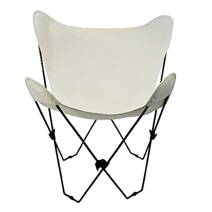 Algoma 4053 00 Butterfly Chair Black Frame, Natural