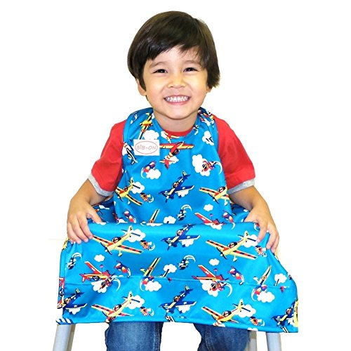 (BIB-ON, A New, Full-Coverage Bib and Apron Combination for Infant, Baby, Toddler Ages 0-4+. One Size Fits All! (Planes))