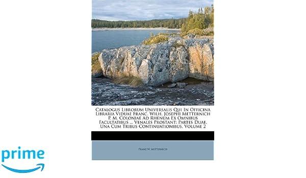 Catalogus librorum universalis qui in officina libraria viduae