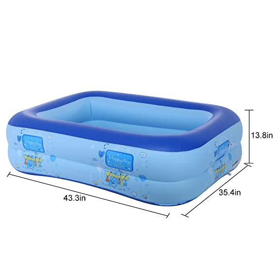 Amazon.com: Lcyus Inflatable Swim Center Pool, Kids Summer ...