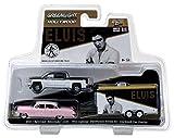 """2015 Chevrolet Silverado 1500 and 1955 Cadillac Fleetwood Series 60 """"Pink Cadillac"""" Elvis Presley (1935-77) in Enclosed Car Hauler 1/64 by Greenlight 31020 A"""