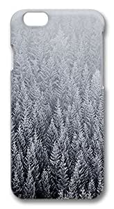 ACESR Custom iPhone 5 5s Cases, Winter Pine Trees PC Hard Case Cover for Apple iPhone 5 5s - 3D Design iPhone 5 5s Case