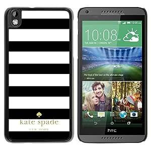 Unique Designed Kate Spade Cover Case For HTC Desire 816 Black Phone Case 4