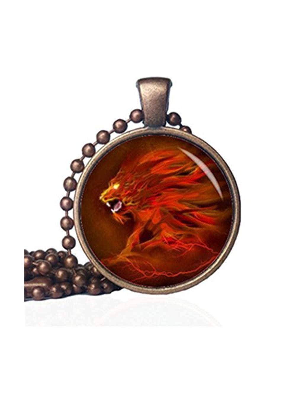/animali selvatici/ /Lion Lion Jewelry/ JUN Collana con ciondolo leone/ /Ciondolo a forma di animale /Psychedelic neon animali/