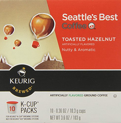 Seattle's Best Coffee Toasted Hazelnut, K-Cup for Keurig Brewers, 60 Count
