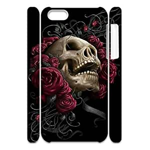 HXYHTY Customized 3D case Sugar Skull for iPhone 5C