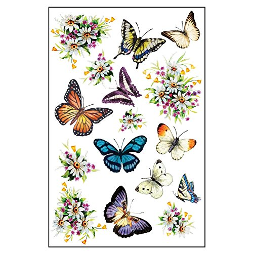 Butterflies Flowers Garage Magnets Multi Colored
