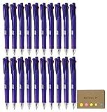 Zebra B4SA1 Clip-on multi F 0.7mm Multifunctional Pen, Elegant Violet Body, 20-pack, Sticky Notes Value Set