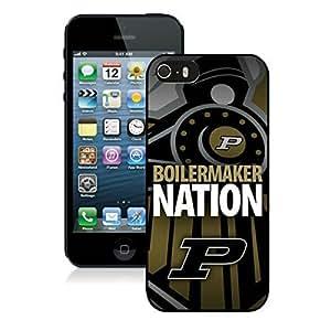 Purdue Boilermakers Black iPhone 5s Hard Plastic Phone Cover Case