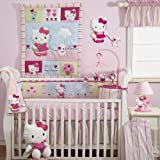 Bedtime Originals Hello Kitty and Puppy Diaper Stacker – Pink, Baby & Kids Zone