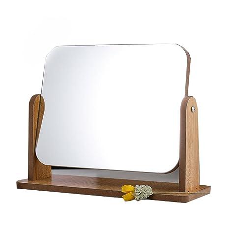 Espejo cosmético de alta definición y claridad 360 ° de rotación ajustable con una sola cara