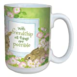 Tree-Free Greetings lm43441 Sweet Friendship Bunny Rabbits by Robin Pickens Ceramic Mug with Full-Sized Handle, 15-Ounce