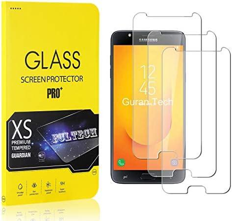 FCLTech Displayschutzfolie für Galaxy J7 Duo, HD Displayschutzfolie 9H Härte Schutzfolie Panzerglasfolie 3D Full Screen Protector für Samsung Galaxy J7 Duo, 3 Stück