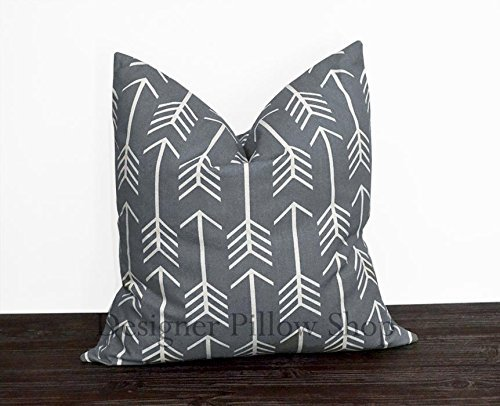 (Gray Arrow Pillow Cover)