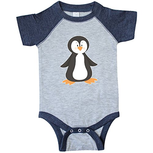 inktastic - Cute Penguin Infant Creeper 6 Months Vintage Heather and Navy 273ed