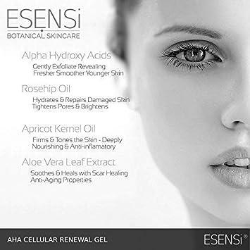 Gel de Regeneración Celular con Ácido Alpha-Hydroxy de ESENSi | AHA Serum Exfoliante para Refinado de Piel: Amazon.es: Belleza