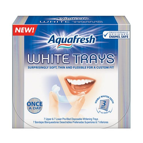 Plateaux Aquafresh blancs, 14