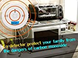 Carbon Detector, CO Detector Alarm LCD Portable Security Gas CO Monitor, Battery Powered Co Detector, Carbon Monoxide Detector (3 AA Battery not included)