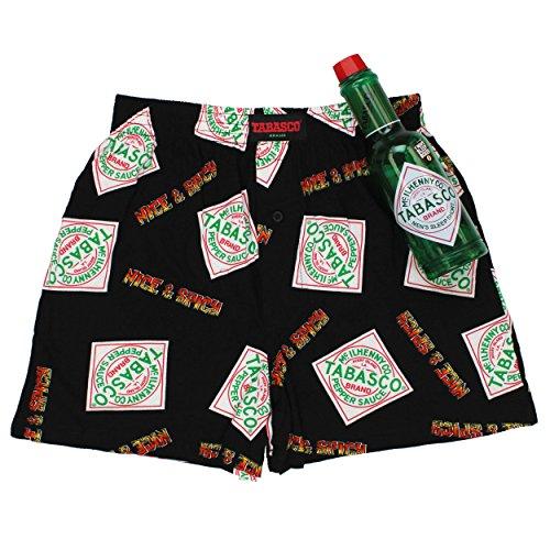 Tabasco Pepper Sauce Mens Boxer Shorts In Bank Gift Set  Medium  32 34   Spicy Black