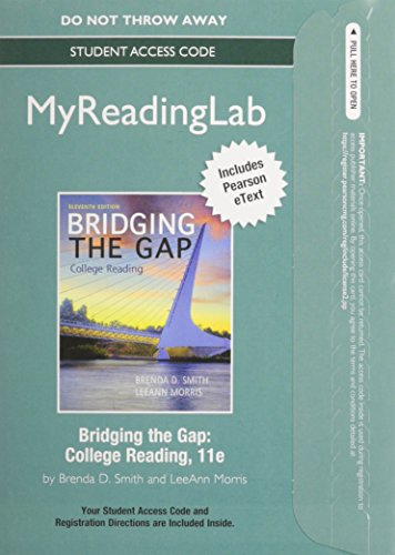 NEW MyReadingLab with Pearson eText -- Standalone Access Card -- for Bridging the Gap (11th Edition)