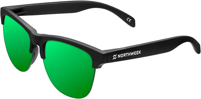 Northweek Gravity Venice - Gafas de Sol para Hombre y Mujer, Negro/Verde