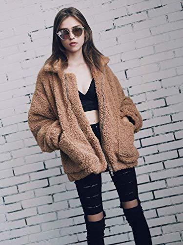 Anchos Retro Larga Mujer Invierno Espesar Caliente Abrigos Manga Otoño Niña Elegante Outwear Solapa Prendas Braun Moda Joven De Exteriores 7zPnBAq