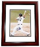 Signed Dan Uggla Photo - 8x10 MAHOGANY CUSTOM FRAME - PSA/DNA Certified - Autographed MLB Photos
