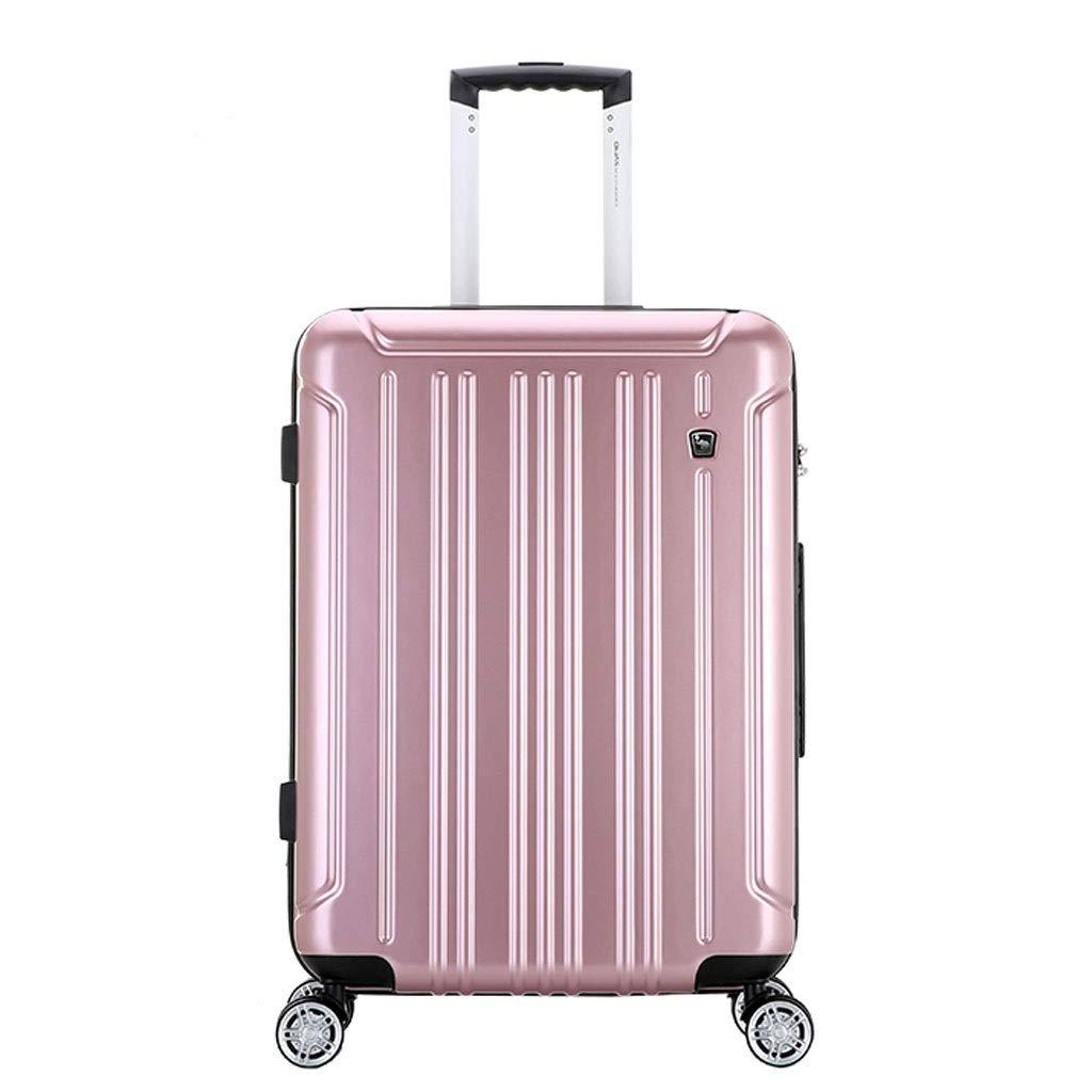 トロリーケース- ユニバーサルホイールトロリーケース20/24インチスーツケースパスワードボックス搭乗スーツケース用男性と女性 (Color : Rose gold, Size : 24in) B07V9DP29V Rose gold 24in