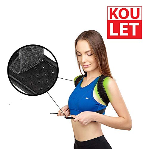 Posture Corrector Back Brace – Best Posture Corrector - The Best Adjustable Back Posture Corrector For Men and Women, Improves Posture and Hunched Shoulders, Shoulder Alignment, Perfect Exercises and by Koulet Support