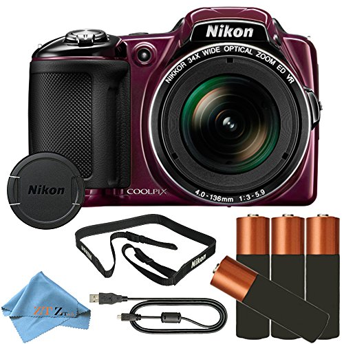 Nikon COOLPIX L830 16MP Point & Shoot Digital Camera (Frustration Free Packaging) (Cloth Only)