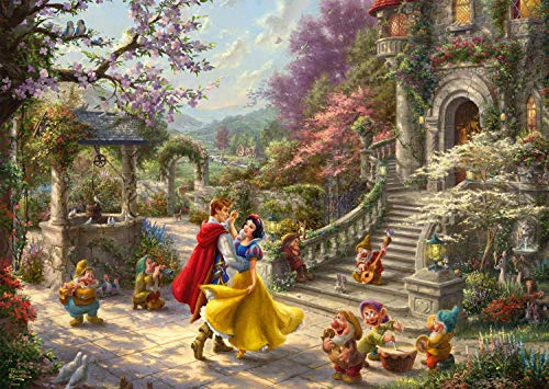 (Schmidt Spiele 59625 Jigsaw Puzzle Thomas Kinkade, Disney, Snow White Dance with The Prince, 1000 Pieces Puzzle, Multi-Coloured)
