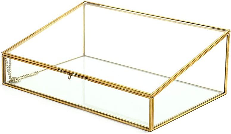 boite vitrine laiton bijoux