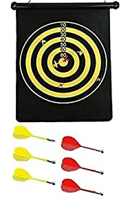 Magnetic Dart Board Double Sided Hanging Dart Board Set