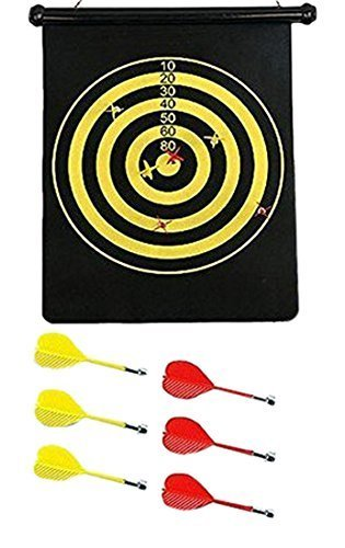 Lowest Prices! Magnetic Dart Board Double Sided Hanging Dart Board Set