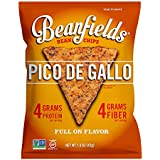 Beanfields Bean Chips, High Protein and Fiber, Gluten Free, Vegan Snack, Pico de Gallo, 1.5 Ounce (Pack of 24)