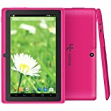 "Yuntab 7"" Tablet, Android 4.4, Allwinner A33 Quad Core, 8GB Storage (Pink)"