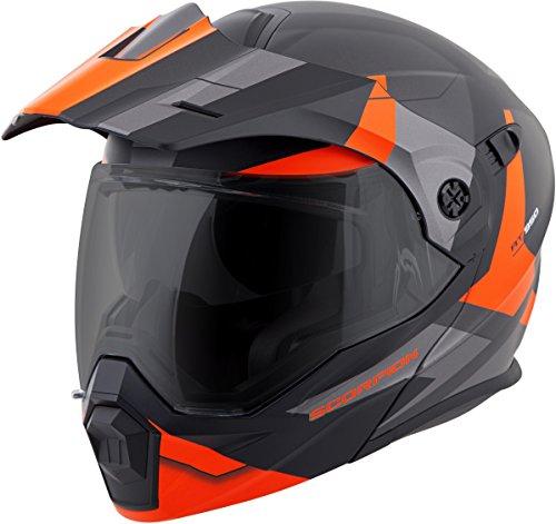 Modular Scorpion Helmet (Scorpion Exo-At950 Cold Weather Helmet W Dual Pane Shield Orange size Small)